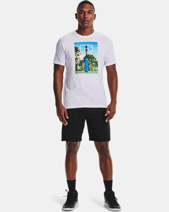 Men's UA Hoops Summer Daze T-Shirt, White, pdpMainDesktop image number 0