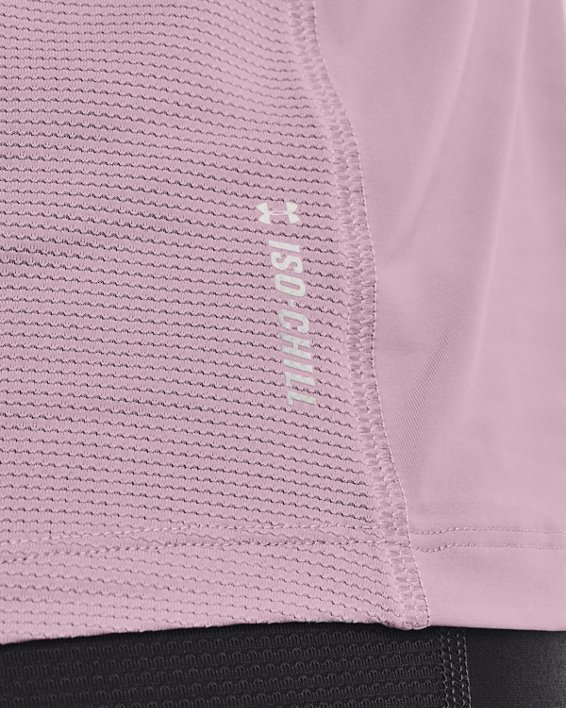 Women's UA Iso-Chill Run Tank, Pink, pdpMainDesktop image number 3