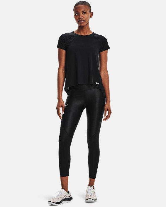 Women's UA Iso-Chill Run Short Sleeve, Black, pdpMainDesktop image number 2