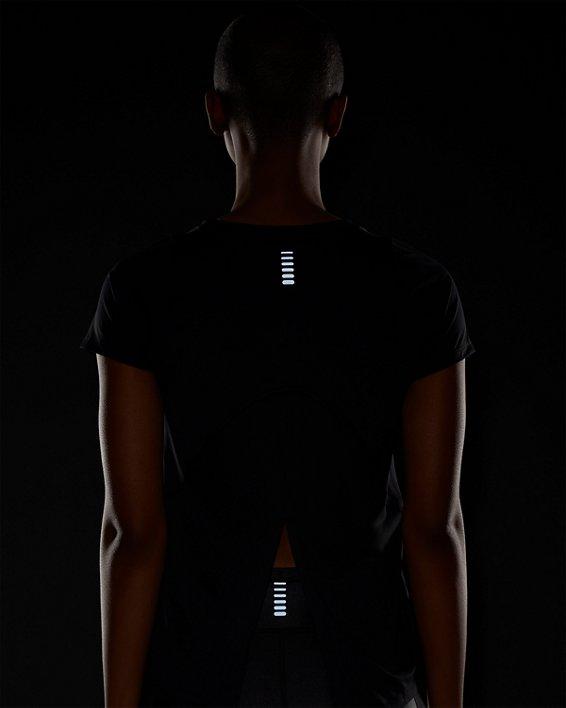 Women's UA Iso-Chill Run Short Sleeve, Black, pdpMainDesktop image number 4