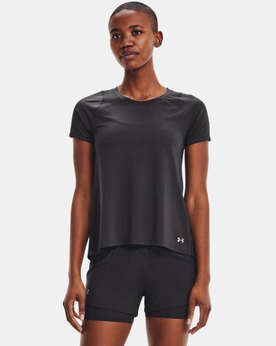 Women's UA Iso-Chill Run Short Sleeve, Gray, pdpMainDesktop image number 1