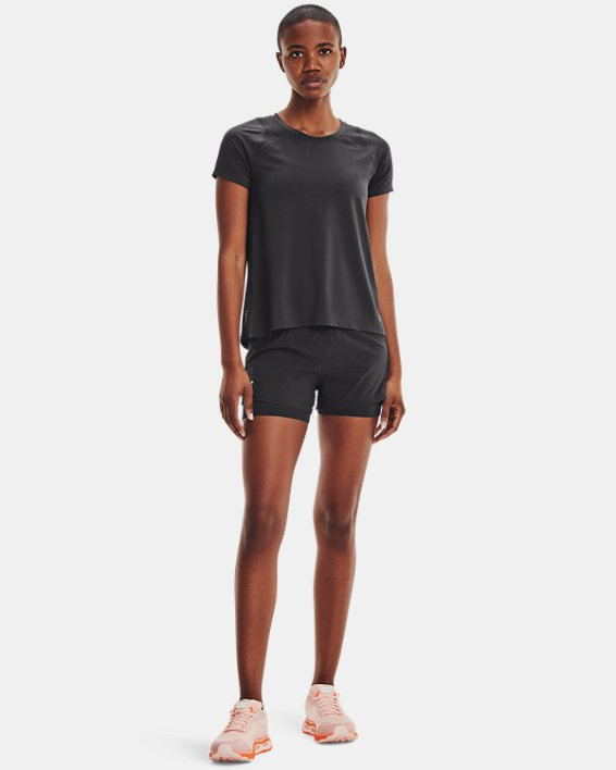 Women's UA Iso-Chill Run Short Sleeve, Gray, pdpMainDesktop image number 0