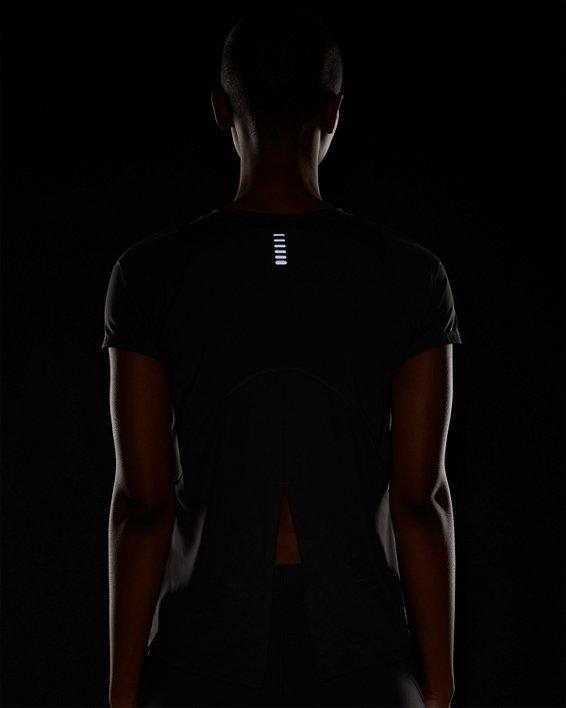 Women's UA Iso-Chill Run Short Sleeve, Gray, pdpMainDesktop image number 7