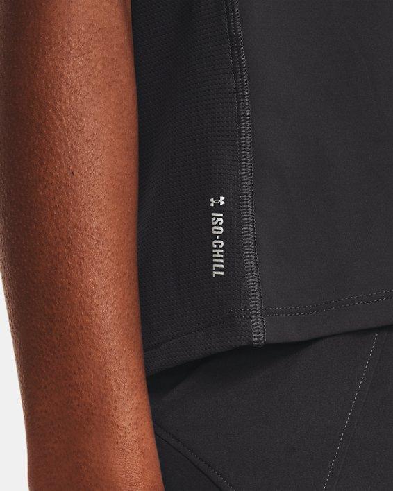 Women's UA Iso-Chill Run Short Sleeve, Gray, pdpMainDesktop image number 3
