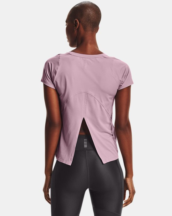 Women's UA Iso-Chill Run Short Sleeve, Pink, pdpMainDesktop image number 2