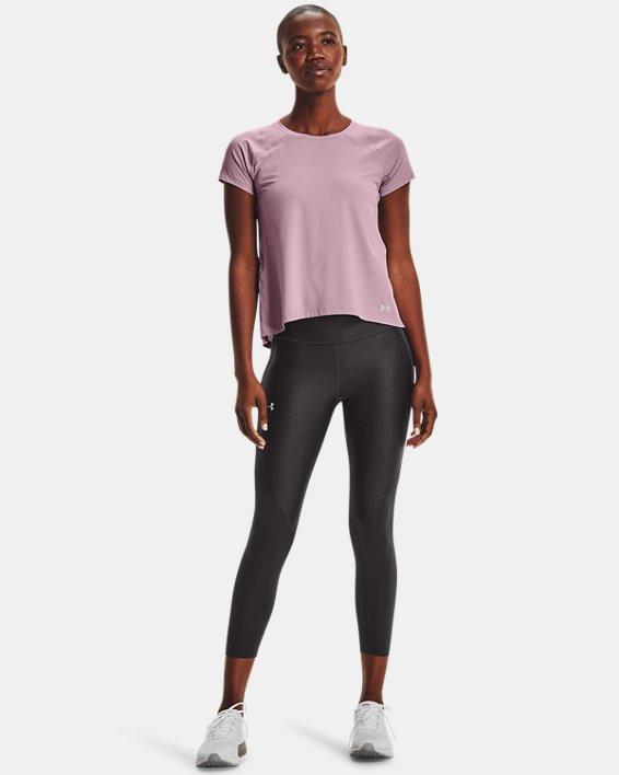 Women's UA Iso-Chill Run Short Sleeve, Pink, pdpMainDesktop image number 0