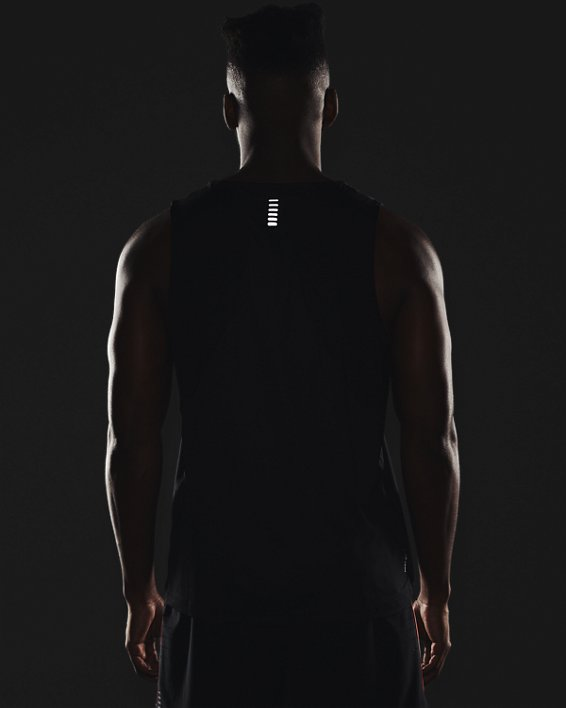 Men's UA Iso-Chill Run Singlet, Black, pdpMainDesktop image number 6