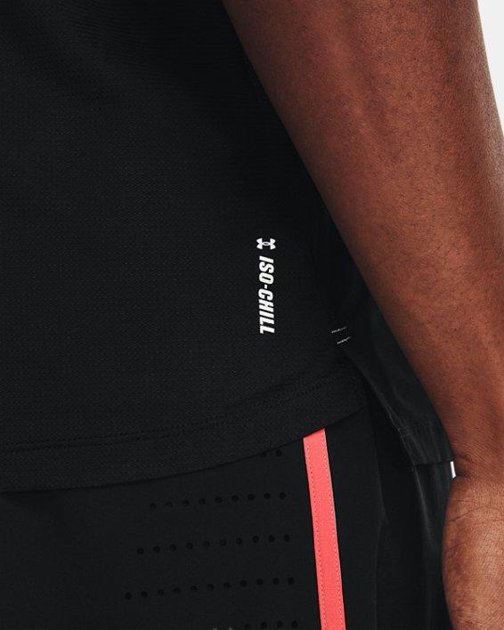 Men's UA Iso-Chill Run Singlet, Black, pdpMainDesktop image number 3