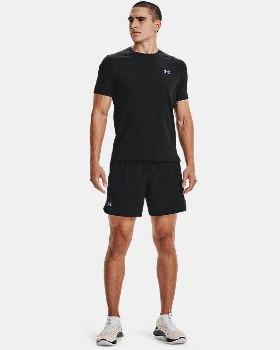 Men's UA Iso-Chill Run Short Sleeve, Black, pdpMainDesktop image number 2