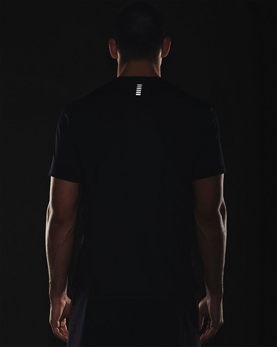 Men's UA Iso-Chill Run Short Sleeve, Black, pdpMainDesktop image number 4