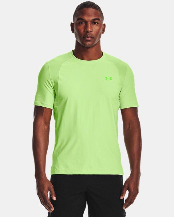 Men's UA Iso-Chill Run Short Sleeve, Green, pdpMainDesktop image number 0