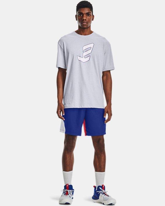 Men's UA Embiid Logo T-Shirt, Gray, pdpMainDesktop image number 0