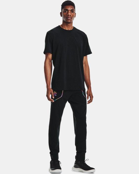 Men's Curry Embroidered UNDRTD T-Shirt, Black, pdpMainDesktop image number 0