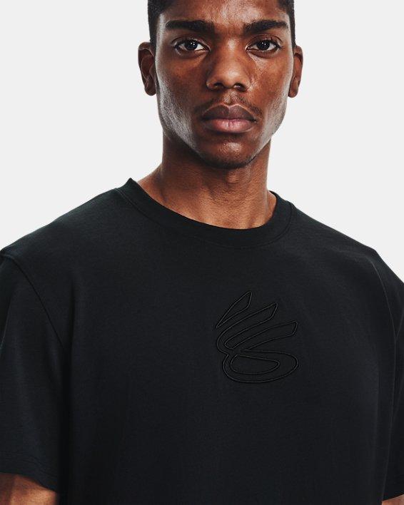 Men's Curry Embroidered UNDRTD T-Shirt, Black, pdpMainDesktop image number 3