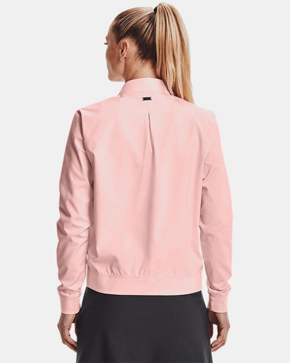 Women's UA Storm Windstrike Full Zip, Pink, pdpMainDesktop image number 2