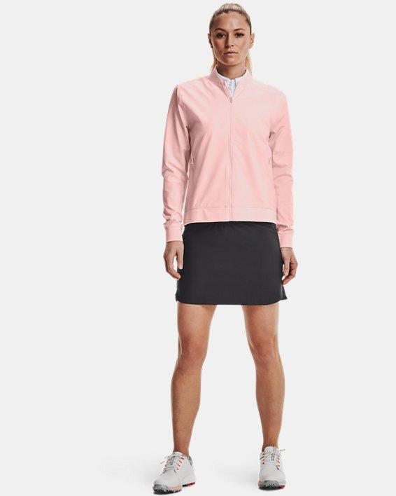 Women's UA Storm Windstrike Full Zip, Pink, pdpMainDesktop image number 0