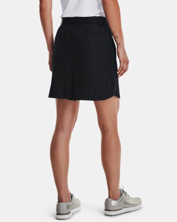 Women's UA Links Woven Printed Skort, Black, pdpMainDesktop image number 2