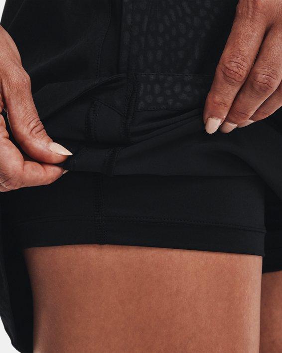 Women's UA Links Woven Printed Skort, Black, pdpMainDesktop image number 5