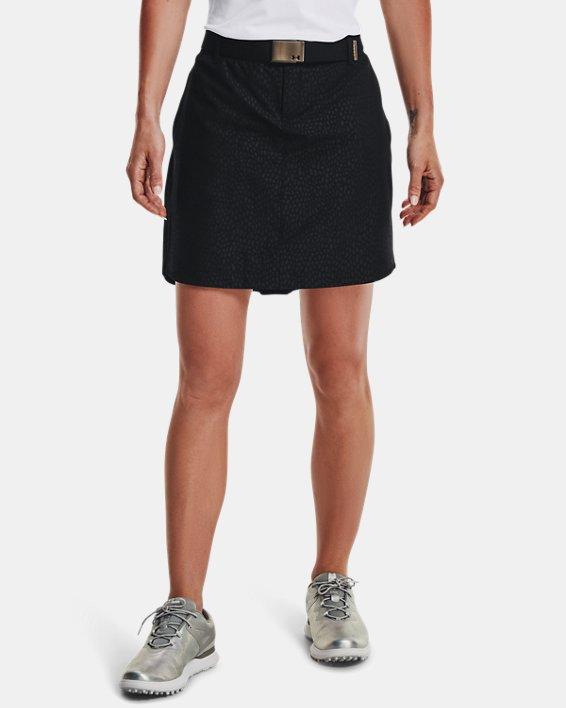 Women's UA Links Woven Printed Skort, Black, pdpMainDesktop image number 1