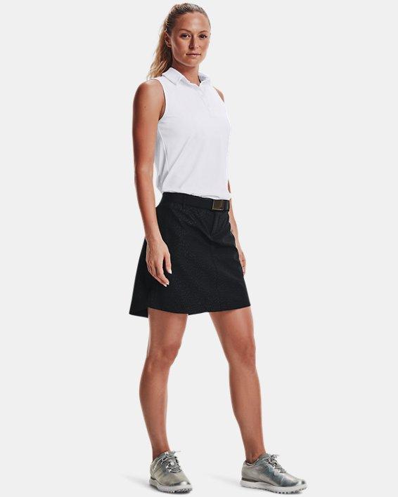 Women's UA Links Woven Printed Skort, Black, pdpMainDesktop image number 0