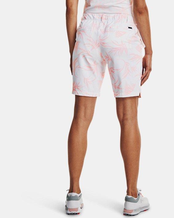 Women's UA Links Printed Shorts, White, pdpMainDesktop image number 2