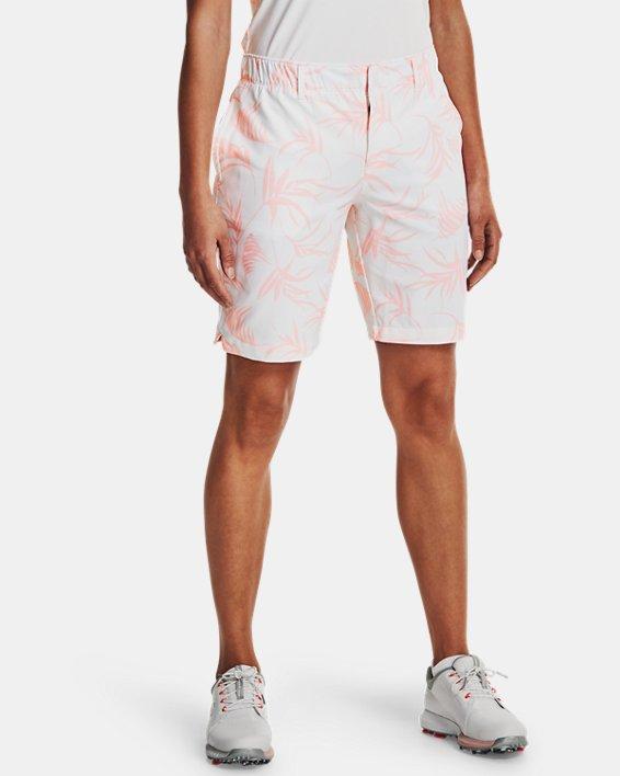 Women's UA Links Printed Shorts, White, pdpMainDesktop image number 1