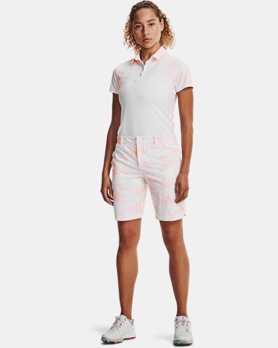 Women's UA Links Printed Shorts, White, pdpMainDesktop image number 0