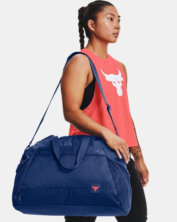 Women's Project Rock Gym Bag, Blue, pdpMainDesktop image number 4
