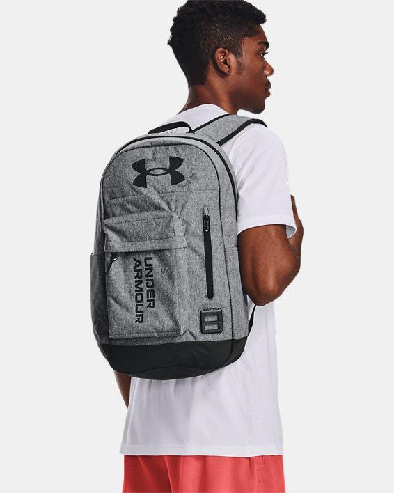 Unisex UA Halftime Backpack, Gray, pdpMainDesktop image number 0