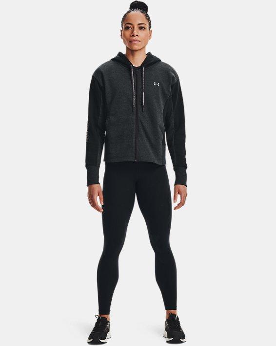 Women's UA Rival Fleece Embroidered Full Zip Hoodie, Black, pdpMainDesktop image number 1