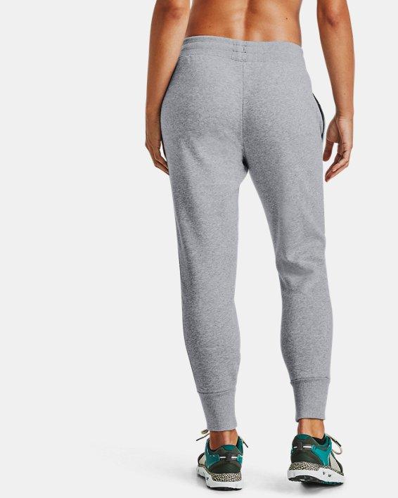 Women's UA Rival Fleece EMB Pants, Gray, pdpMainDesktop image number 2
