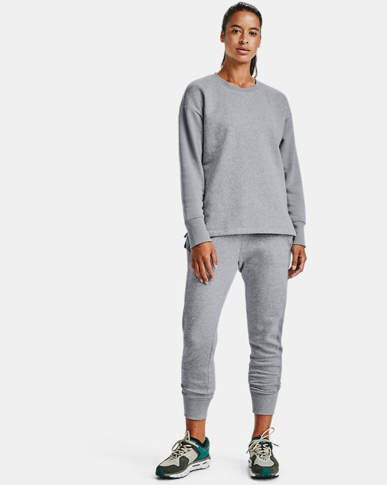 Women's UA Rival Fleece EMB Pants, Gray, pdpMainDesktop image number 1
