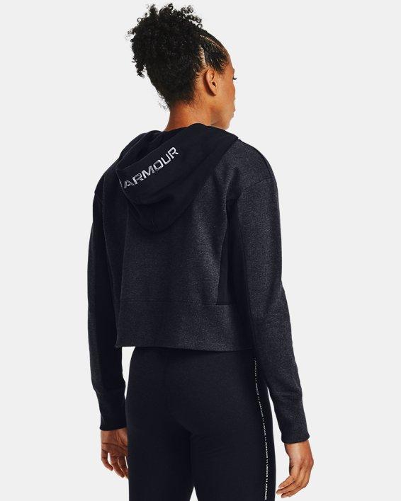 Women's UA Rival Fleece Embroidered Hoodie, Black, pdpMainDesktop image number 0