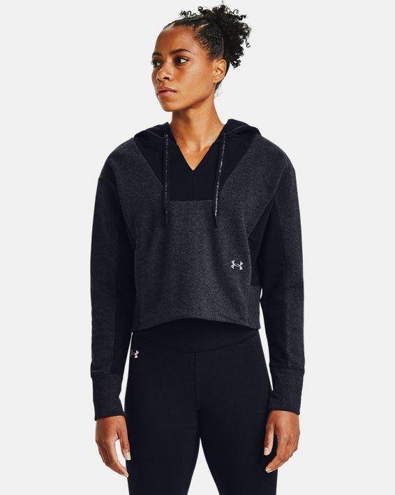 Women's UA Rival Fleece Embroidered Hoodie, Black, pdpMainDesktop image number 2