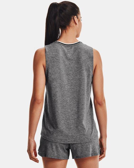 Women's UA RECOVER™ Sleepwear Tank, Black, pdpMainDesktop image number 2