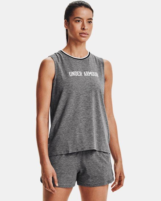 Women's UA RECOVER™ Sleepwear Tank, Black, pdpMainDesktop image number 1