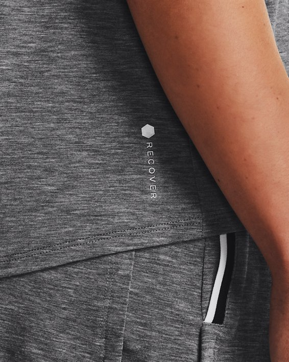Women's UA RECOVER™ Sleepwear Tank, Black, pdpMainDesktop image number 3