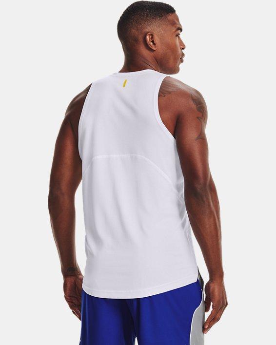 Men's Curry Performance Tank, White, pdpMainDesktop image number 2