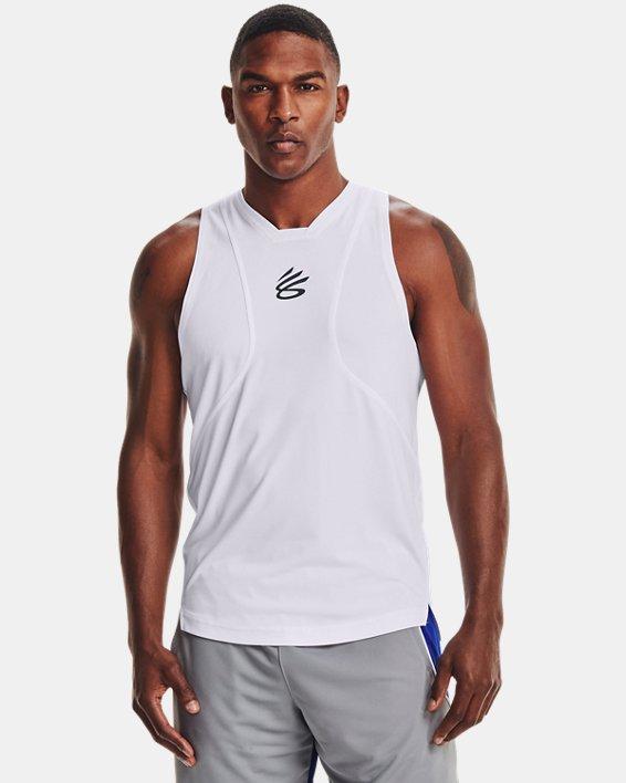 Men's Curry Performance Tank, White, pdpMainDesktop image number 1