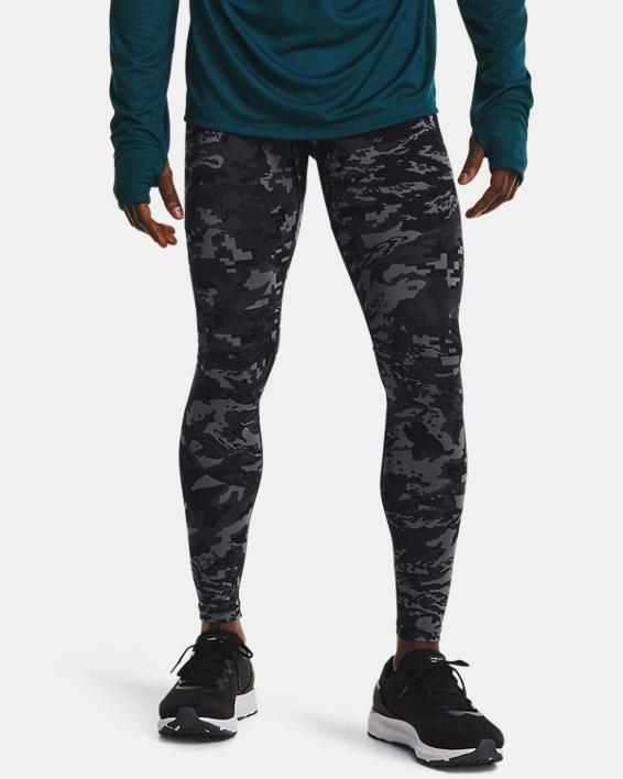 Men's UA Fly Fast Printed Tights, Black, pdpMainDesktop image number 1