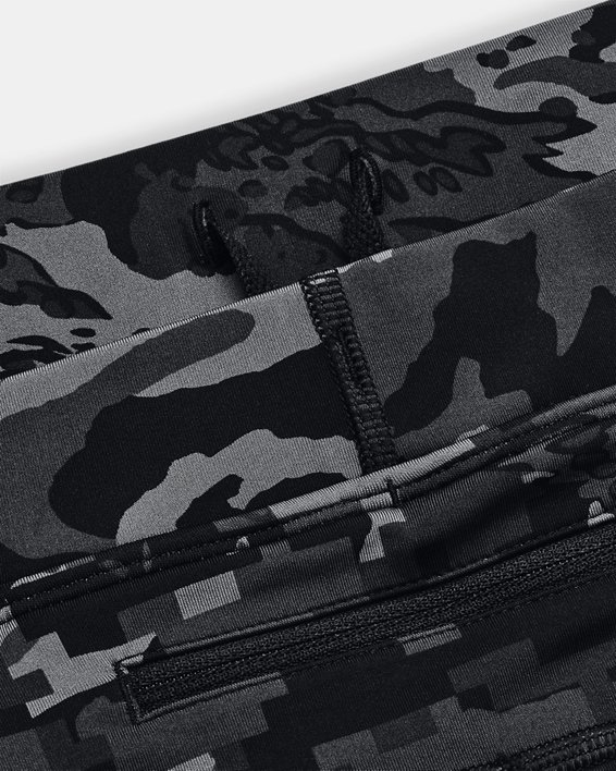 Men's UA Fly Fast Printed Tights, Black, pdpMainDesktop image number 6