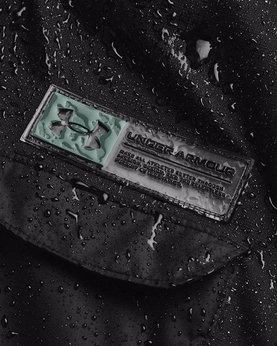 Men's Armour Fleece® Storm Hooded Vest, Black, pdpMainDesktop image number 4