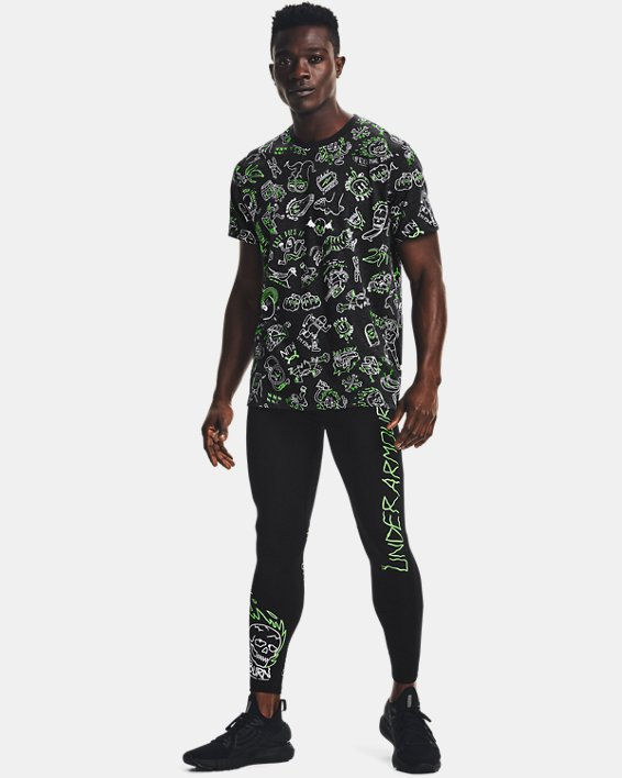 Men's UA Run Your Face Off Tights, Black, pdpMainDesktop image number 0