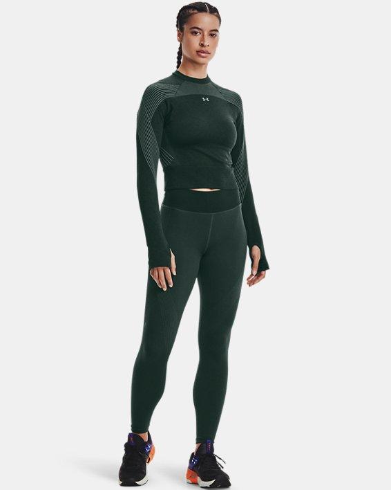 Women's UA RUSH™ Seamless Long Sleeve, Green, pdpMainDesktop image number 0