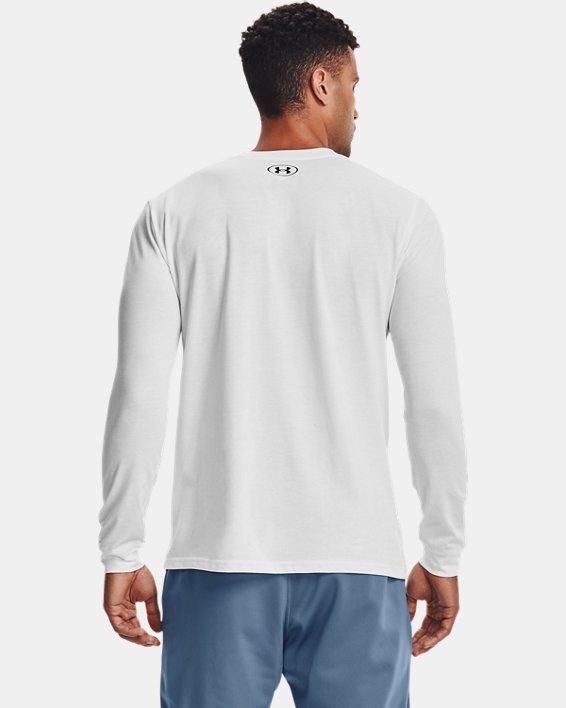 Camiseta de manga larga UA Sportstyle Logo para hombre, White, pdpMainDesktop image number 2