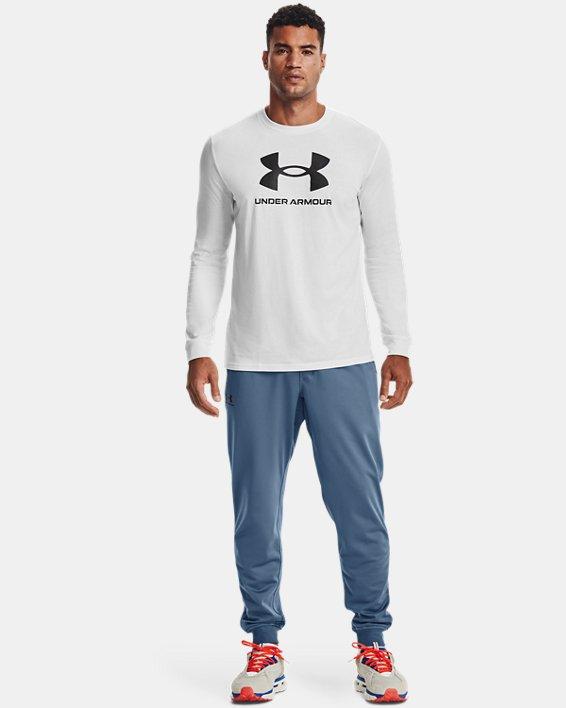 Camiseta de manga larga UA Sportstyle Logo para hombre, White, pdpMainDesktop image number 0