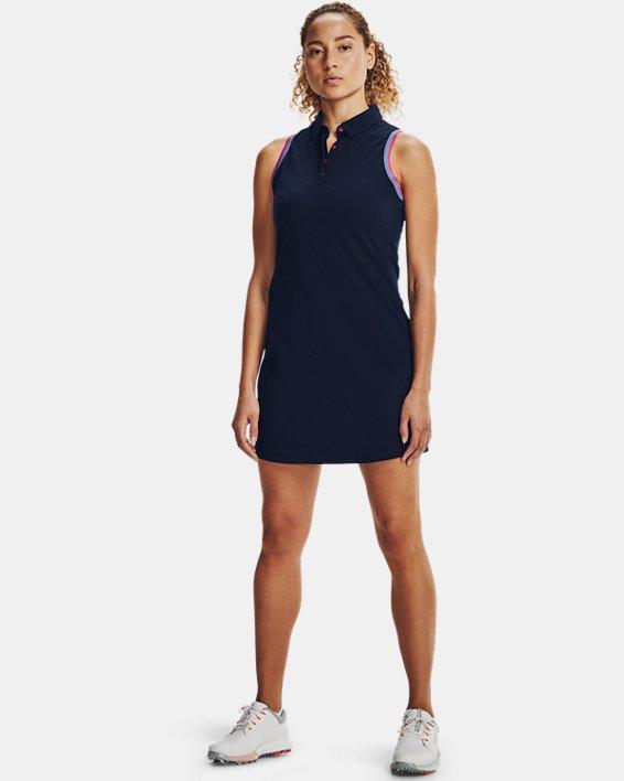 Women's UA Zinger Pique Dress, Navy, pdpMainDesktop image number 0