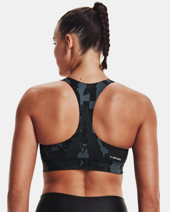 Sujetador deportivo UA Iso-Chill Mid Team para mujer, Black, pdpMainDesktop image number 7