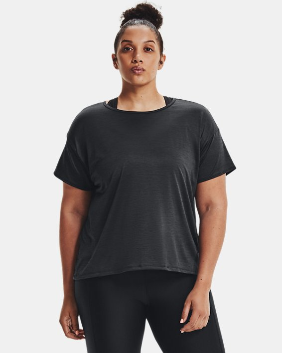 Women's UA Tech™ Vent Short Sleeve, Black, pdpMainDesktop image number 1