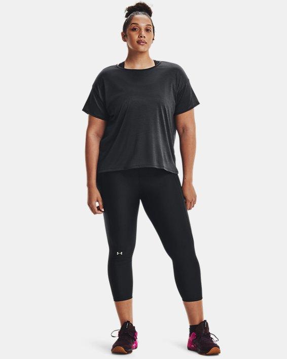 Women's UA Tech™ Vent Short Sleeve, Black, pdpMainDesktop image number 0